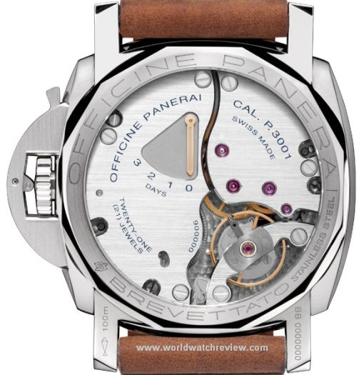 Panerai Luminor Marina 1950 3 Days Limited Edition (PAM 422) transparent case back