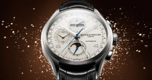 Steel Baume & Mercier Clifton Chronograph Complete Calendar Leather Strap Replica Watch Ref.M0A10278