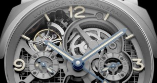 Panerai Lo Scienziato Luminor 1950 Tourbillon GMT Titanio Replica Watch PAM00578
