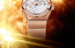 Rose Gold Omega Constellation Ladies' watch replica
