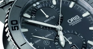 The Masculine and Cool Oris Aquis Titan Chronograph Diving Watch For Sale